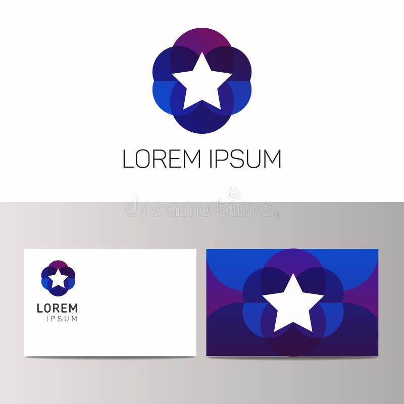 Абстрактный творческий дизайн вектора знака значка логотипа звезды иллюстрация вектора