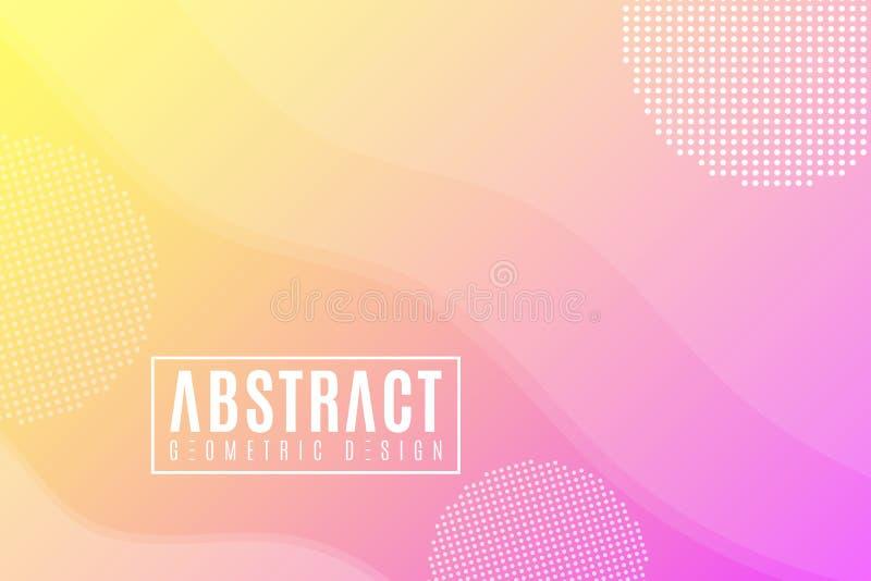 Абстрактный творческий шаблон для вашего дизайна Современная предпосылка Геометрический дизайн, ультрамодный стиль Жидкая графиче иллюстрация штока