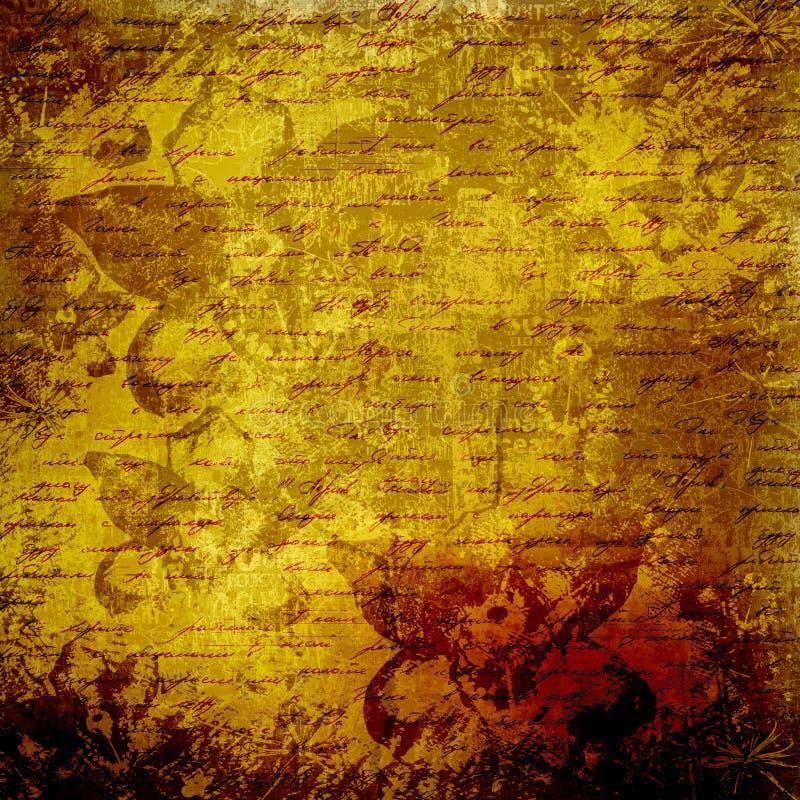 абстрактный текст handwrite grunge предпосылки иллюстрация вектора