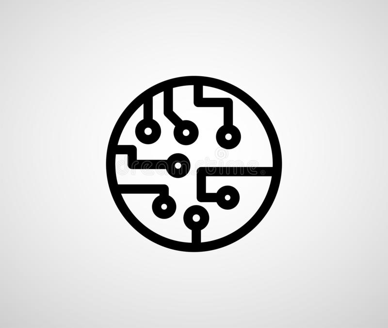 абстрактный техник предпосылки Футуристический интерфейс технологии иллюстрация штока