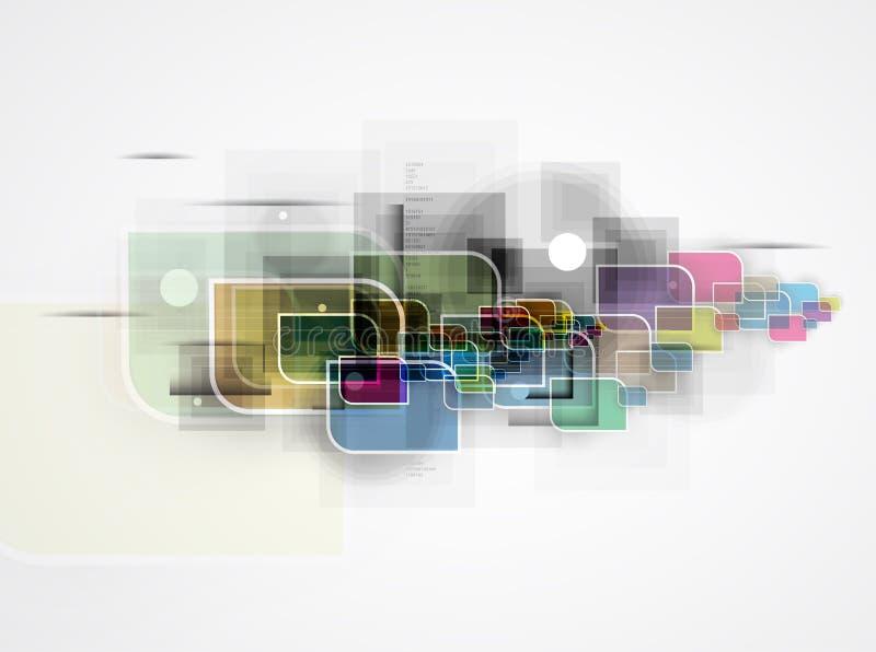 абстрактный техник предпосылки Футуристический интерфейс технологии бесплатная иллюстрация