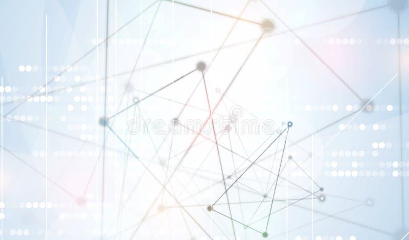 абстрактный техник предпосылки Футуристический интерфейс технологии Vecto бесплатная иллюстрация