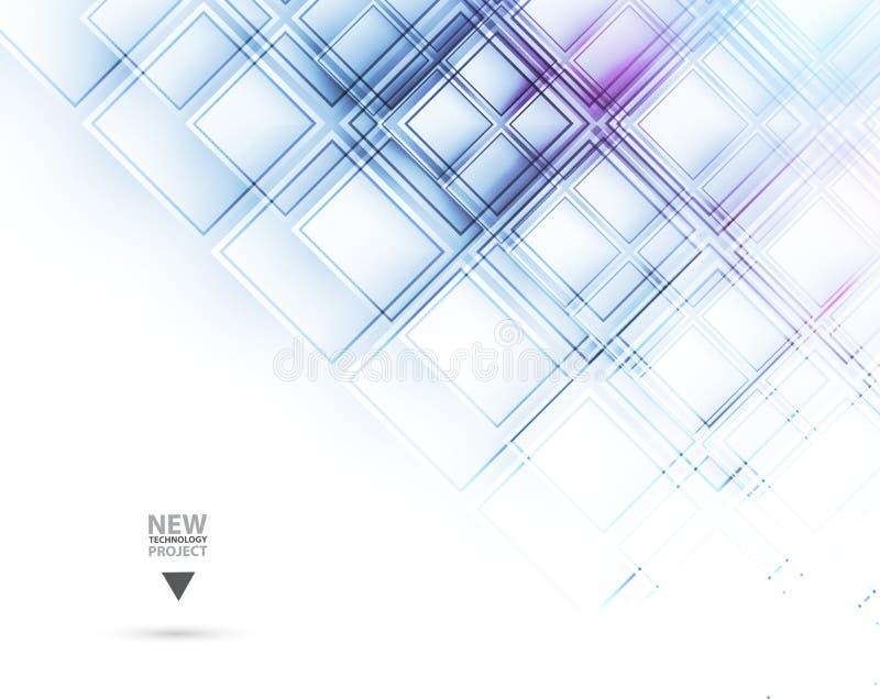 абстрактный техник предпосылки Футуристический интерфейс технологии Vecto иллюстрация штока