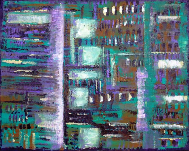 абстрактный тип картины батика иллюстрация штока