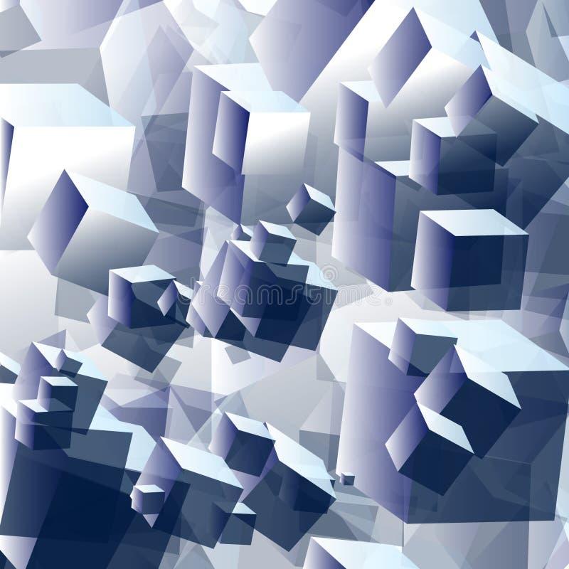 Абстрактный том куба предпосылки стоковые фото