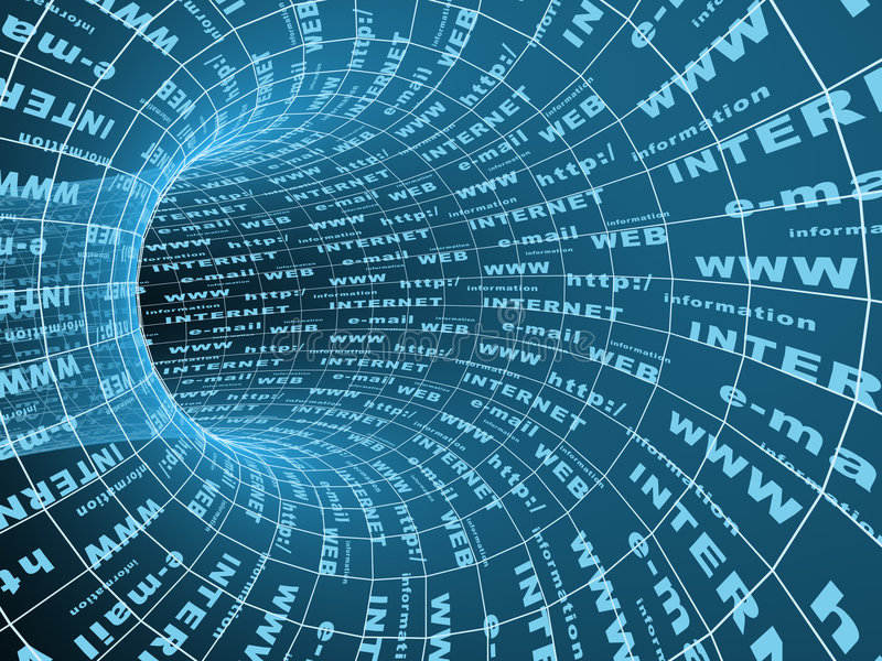 абстрактный тоннель символа интернета 3d
