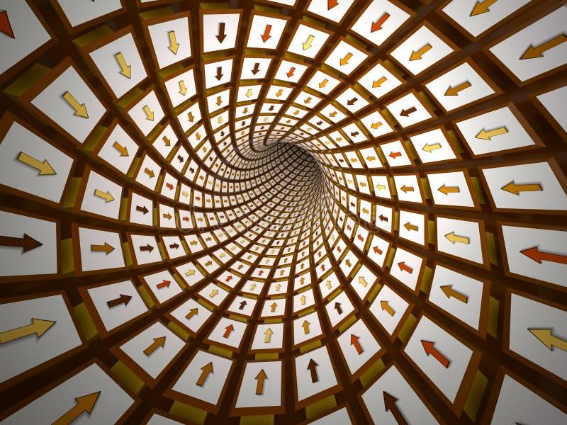 Абстрактный тоннель, 3D иллюстрация штока