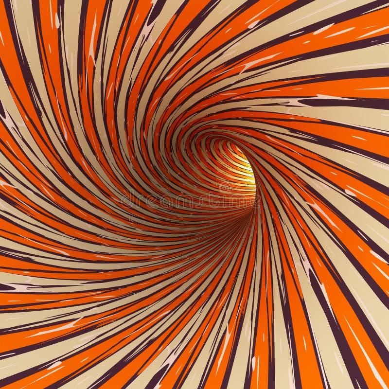 Абстрактный тоннель, 3D иллюстрация вектора