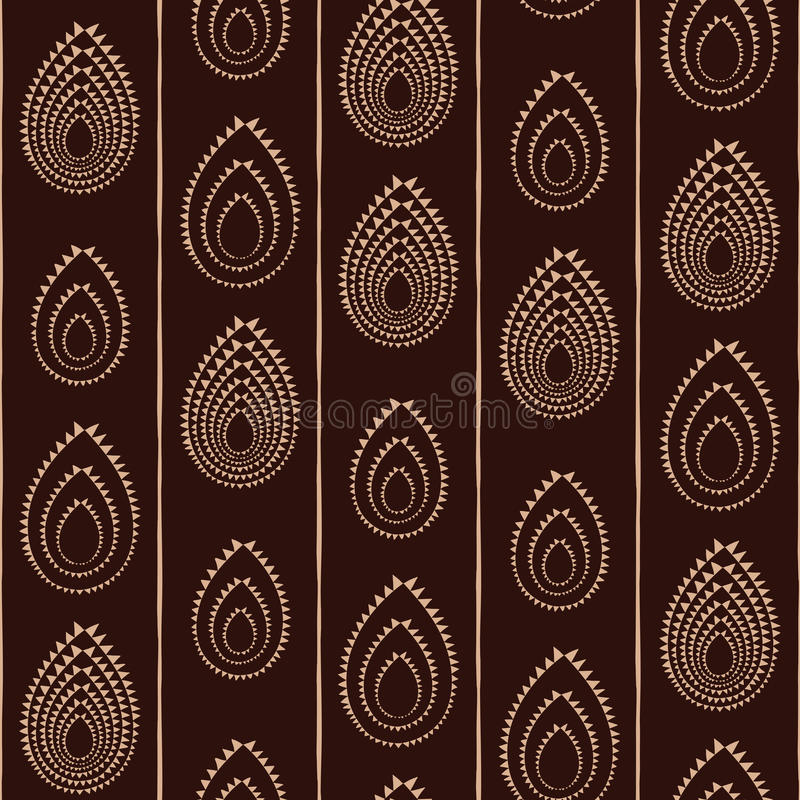 Абстрактный традиционный африканский орнамент вектор картины безшовный бесплатная иллюстрация