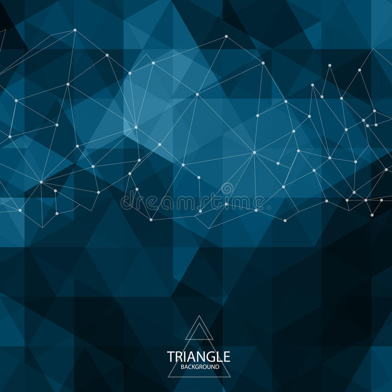 абстрактный треугольник предпосылки иллюстрация вектора