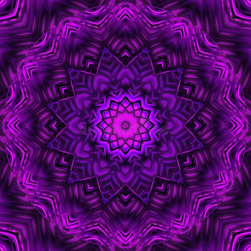 Абстрактный ультрафиолетов дизайн мандалы