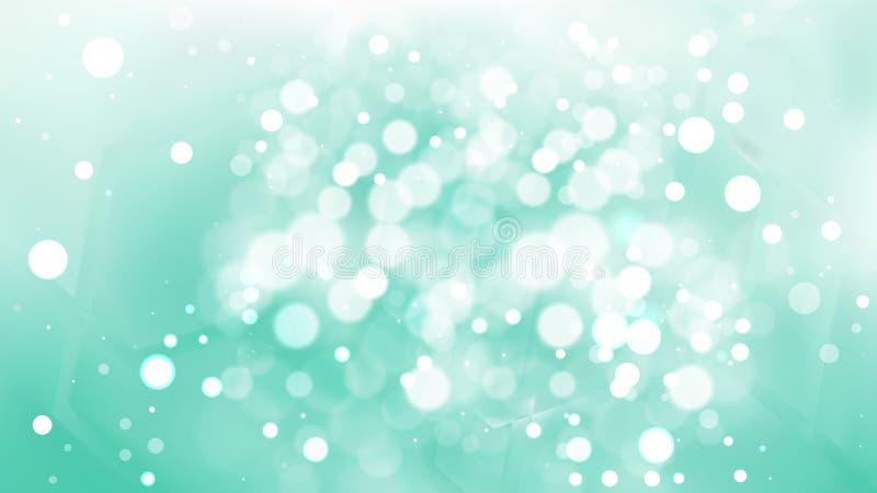Абстрактный фильтр Mint Green Blur Lights Background Vector иллюстрация штока