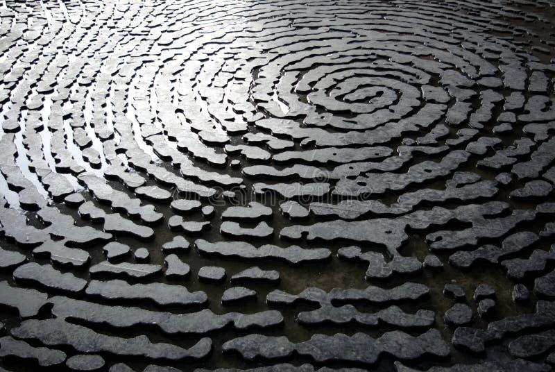 абстрактный фингерпринт стоковое фото