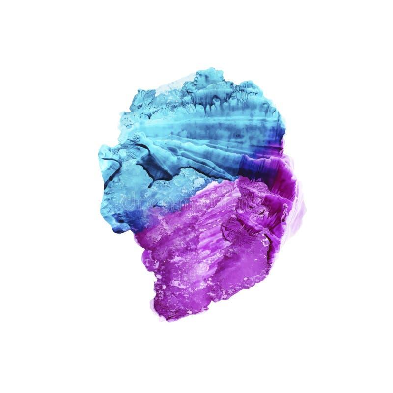 Абстрактный фиолет и голубая предпосылка акварели Фон вектора покрашенный рукой бесплатная иллюстрация