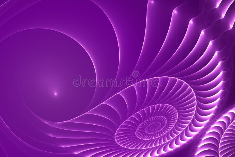 абстрактный фиолет раковины clam предпосылки иллюстрация штока