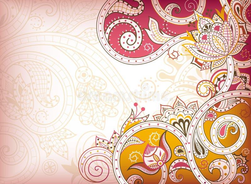 абстрактный флористический пинк бесплатная иллюстрация