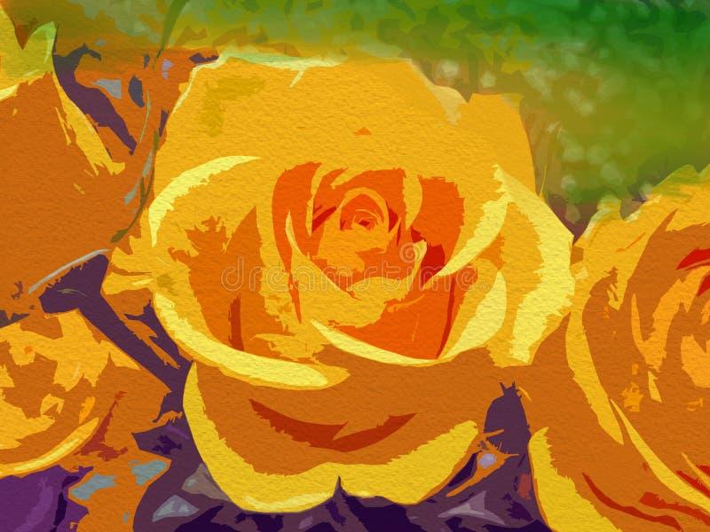 Абстрактный флористический цвет воды предпосылки Картина цветка бесплатная иллюстрация