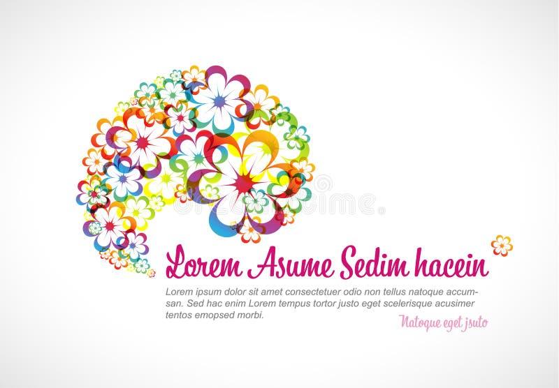 Абстрактный флористический шаблон рогульки радуги иллюстрация штока