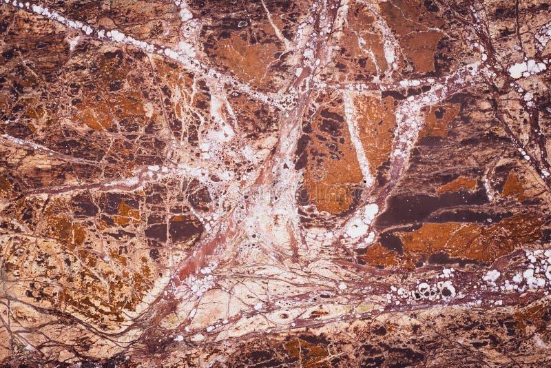 Абстрактный фон коричневого камня Гранит, мраморная текстура, оранжевый узор Многоцветная гладкая плита Природная стена, современ стоковое фото