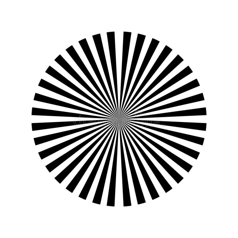 Абстрактный фон черно-белых лучей иллюстрация вектора