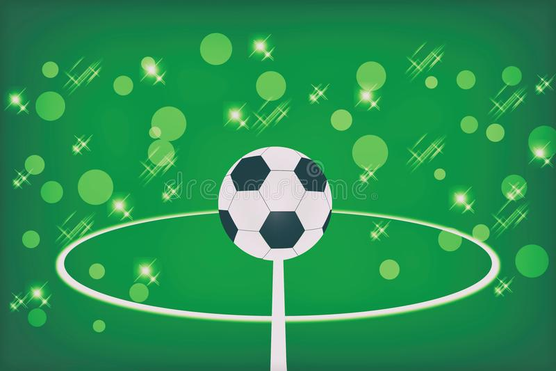 абстрактный футбол зеленого цвета шарика предпосылки бесплатная иллюстрация