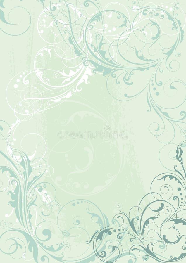 Абстрактный флористический дизайн предпосылки в светлом teal бесплатная иллюстрация