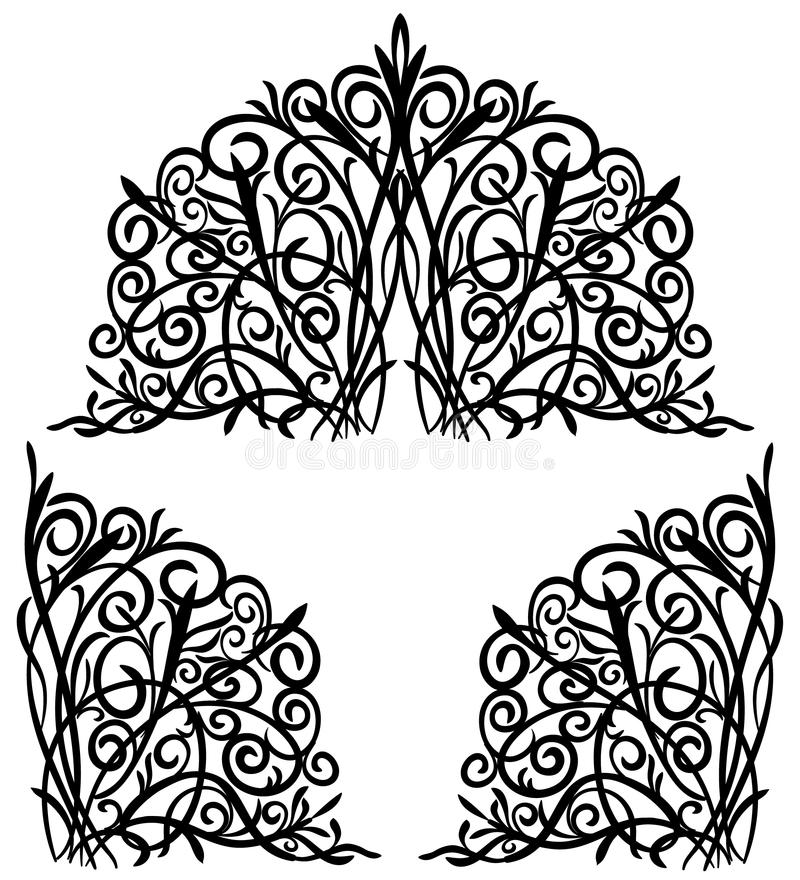 абстрактный флористический орнамент стоковое фото