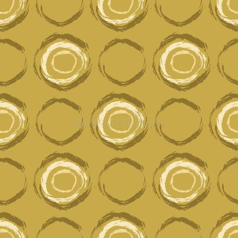 Абстрактный ход щетки объезжает безшовную картину вектора, точки польки вручает покрашенную иллюстрацию иллюстрация вектора