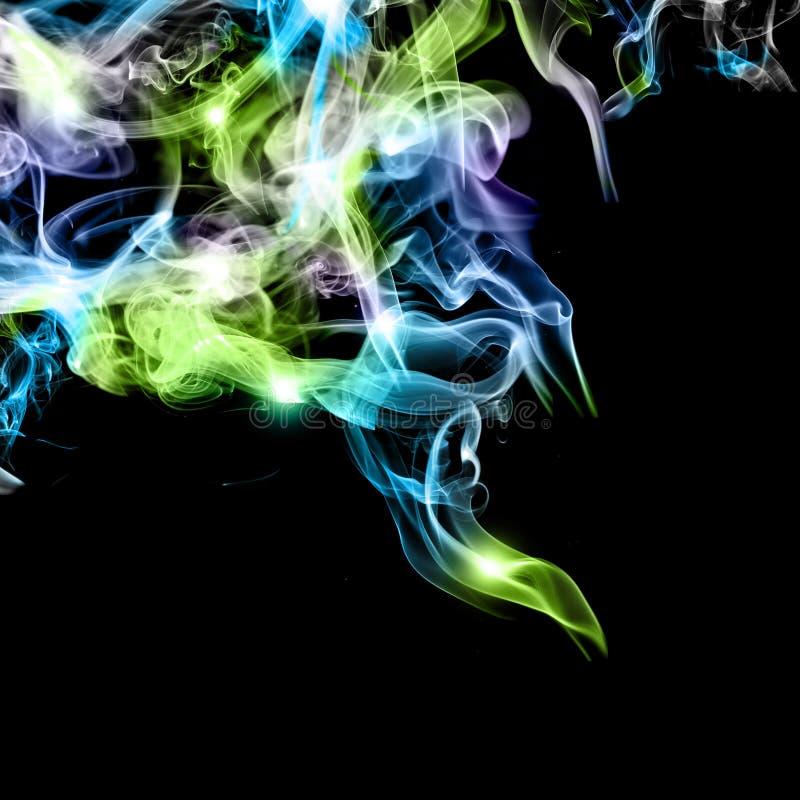 абстрактный цветастый дым стоковое фото rf