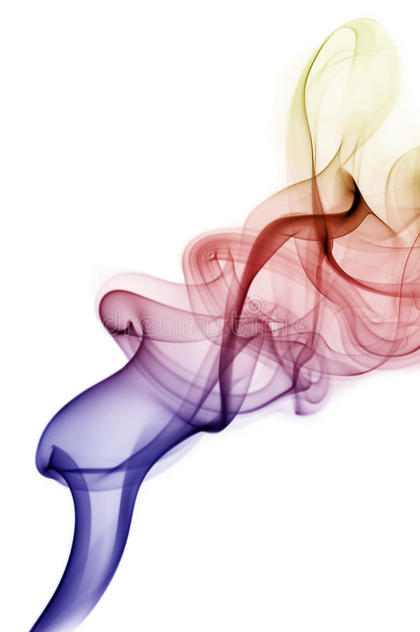 абстрактный цветастый дым стоковое изображение rf