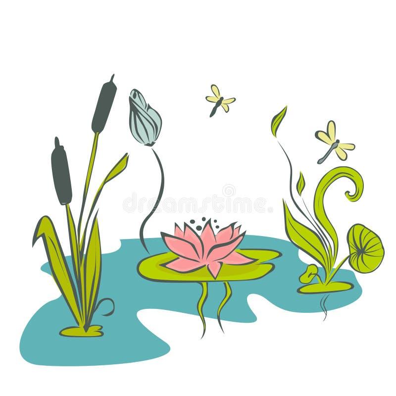 Абстрактный цветок воды бесплатная иллюстрация