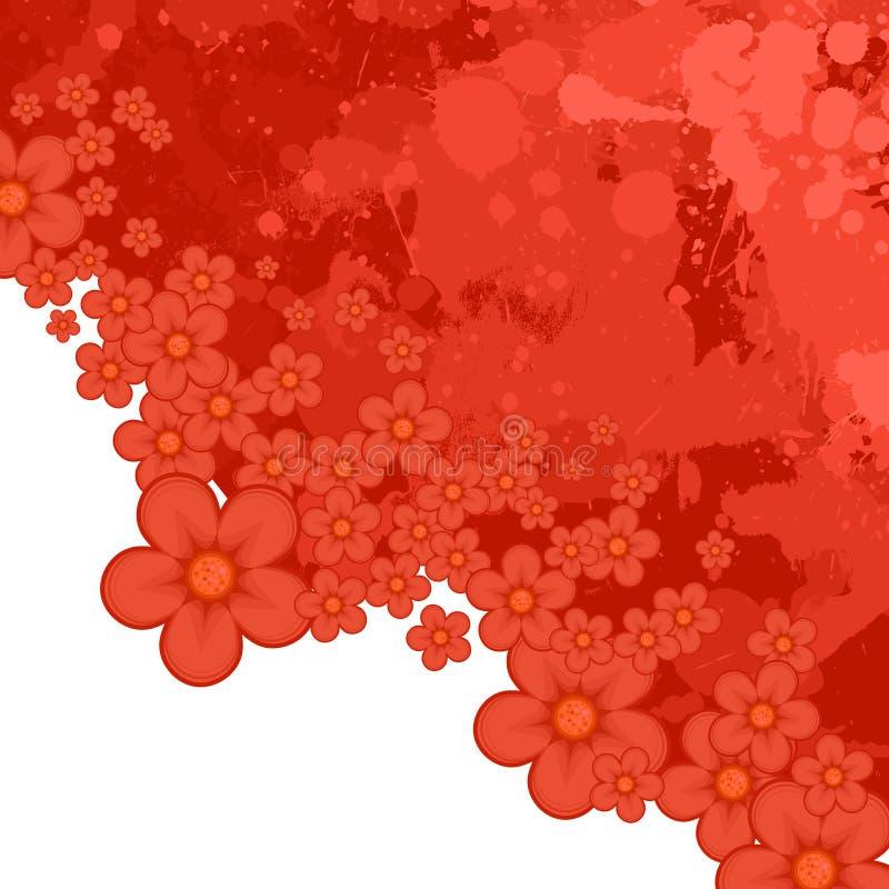 абстрактный цветок предпосылки иллюстрация штока