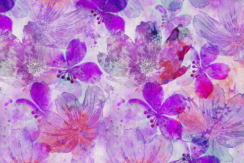 Абстрактный цветок Backgrund в пинке стоковая фотография