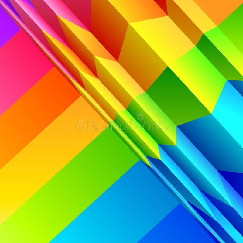 абстрактный цвет полос бесплатная иллюстрация