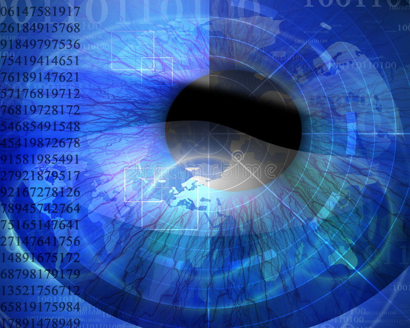 Абстрактный цифровой глаз бесплатная иллюстрация
