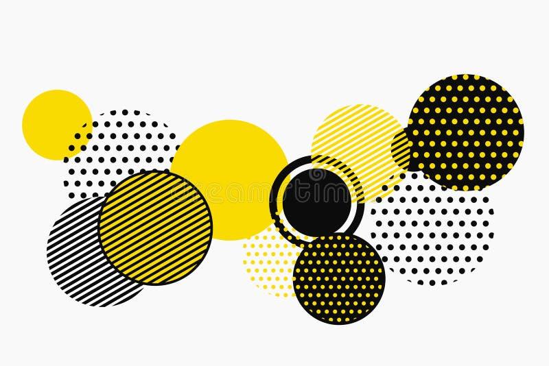 Абстрактный черный и желтый геометрический дизайн вектора картины формы вектор eps10 иллюстрации бесплатная иллюстрация