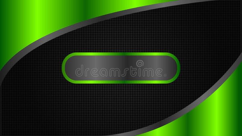 Абстрактный черный и зеленый дизайн знамени техника, минимальный стиль иллюстрация штока