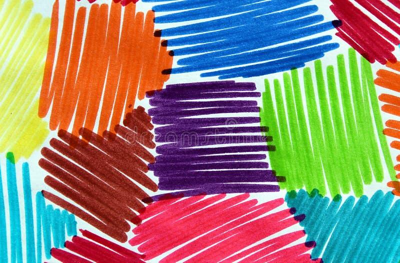 Абстрактный чертеж отметки стоковое изображение