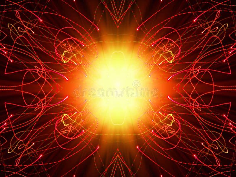 Абстрактный чертеж с светом стоковое изображение rf