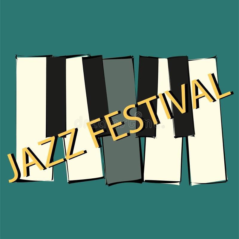 Абстрактный шаблон брошюры с фестивалем джазовой музыки r Летчик вектора концерта джаза иллюстрация штока