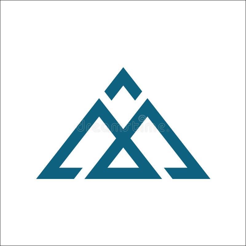 Абстрактный шаблон вектора логотипа m иллюстрация штока