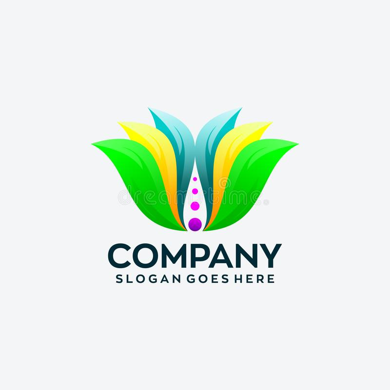 Абстрактный шаблон дизайна логотипа цветка иллюстрация штока