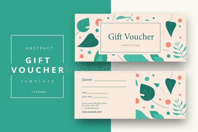 Абстрактный шаблон карточки подарочного сертификата Современный талон скидки или c иллюстрация штока