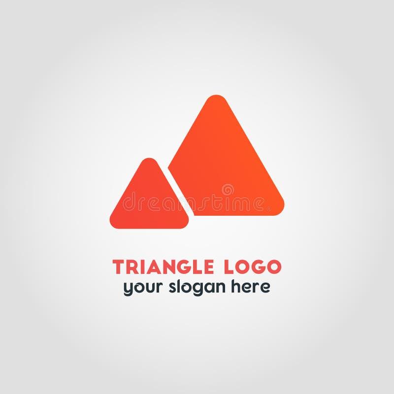 Абстрактный шаблон логотипа вектора дела в красочном двойном Triang бесплатная иллюстрация