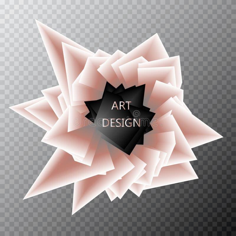 абстрактный шаблон предпосылки Бумажный геометрический взрыв форм полигона и треугольника Динамический красочный фон, вектор иллюстрация вектора