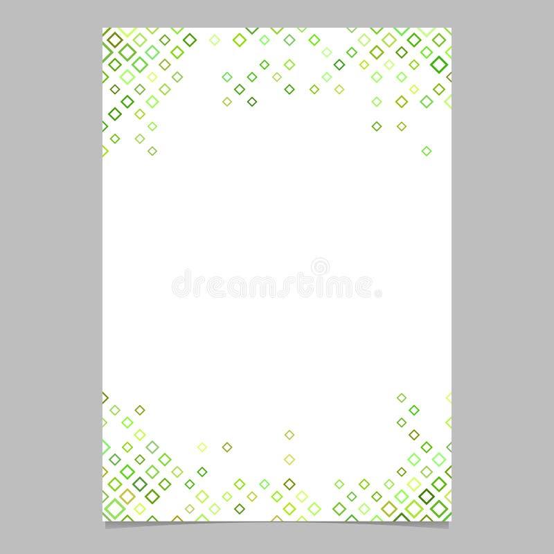 Абстрактный шаблон брошюры от зеленой раскосной квадратной картины - vector дизайн для представлений иллюстрация штока