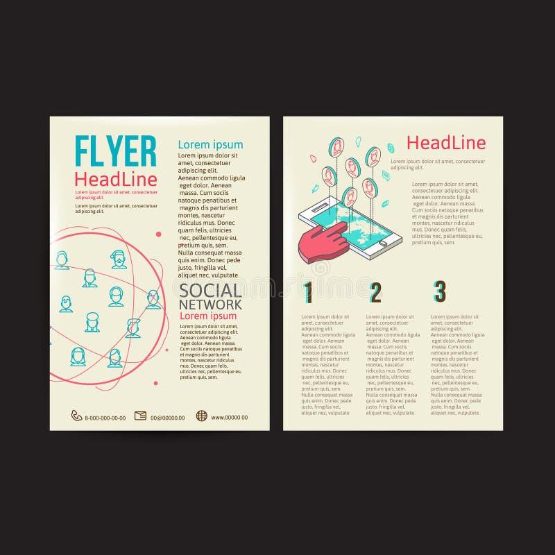 Абстрактный шаблон вектора дизайна рогульки брошюры иллюстрация штока