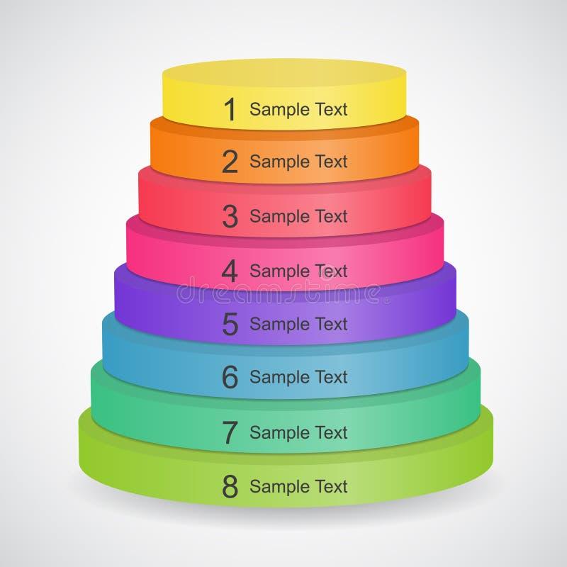 пирамидка цвета 3d иллюстрация вектора