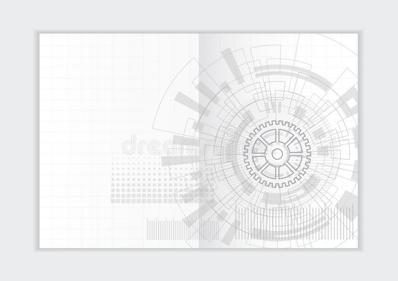 Абстрактный шаблон годового отчета предпосылки, геометрическая крышка брошюры дела дизайна треугольника стоковая фотография