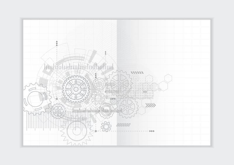 Абстрактный шаблон годового отчета предпосылки, геометрическая крышка брошюры дела дизайна треугольника стоковая фотография rf